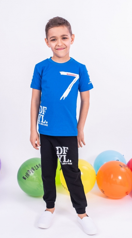 Set of short sleeve boy with hat