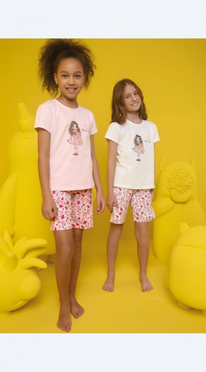 Short sleeve girl pajamas