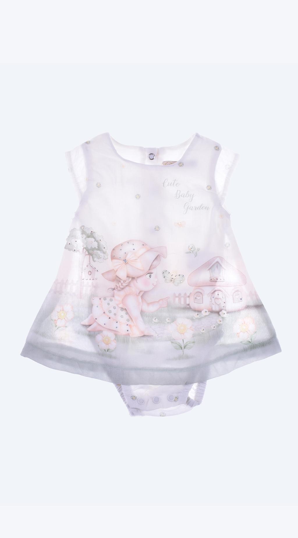Бебешко Боди рокля къс ръкав