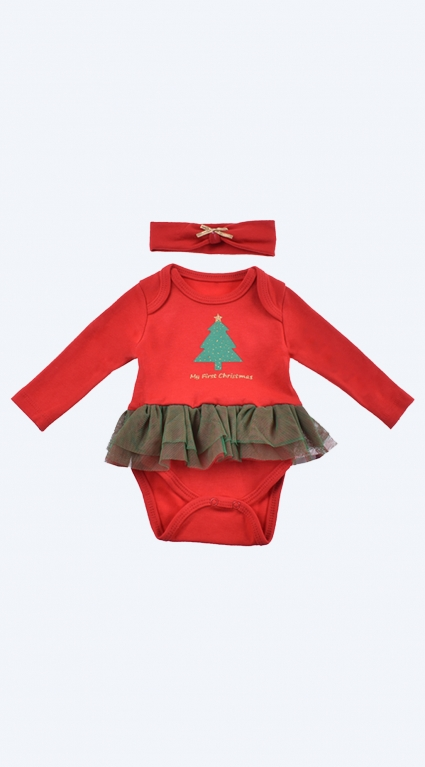 Christmas bodysuit dress long sleeve