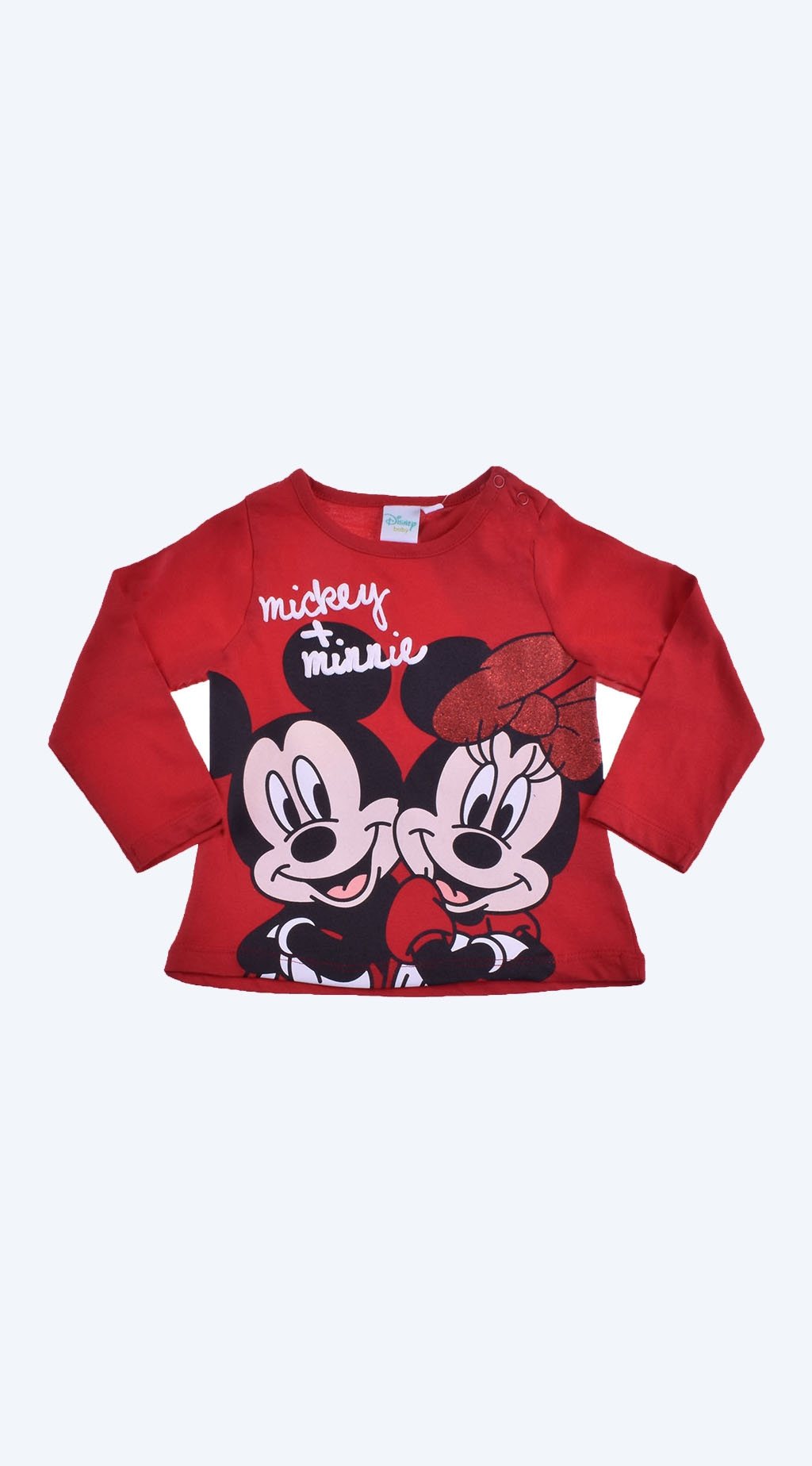 Blouse girl long sleeve mickey and minnie mouse