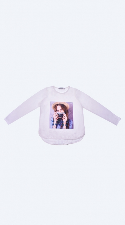 Blouse girl long sleeve