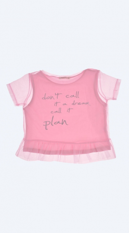 T-shirt for girl with tulle