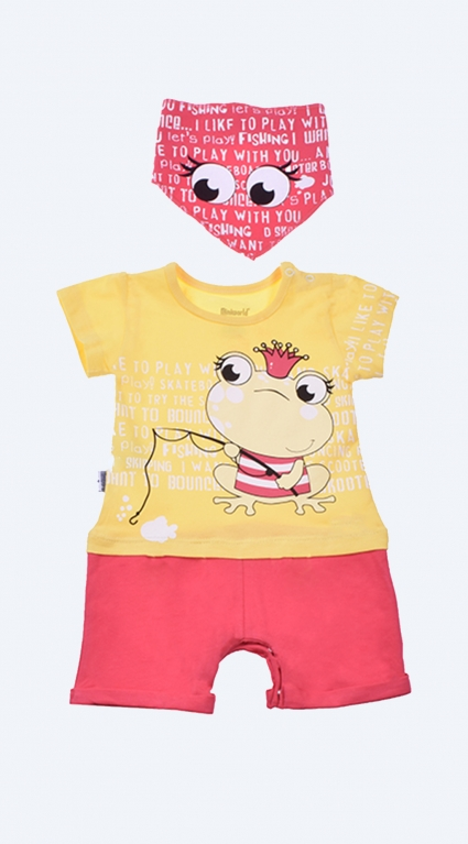 Overall short sleeve for girl