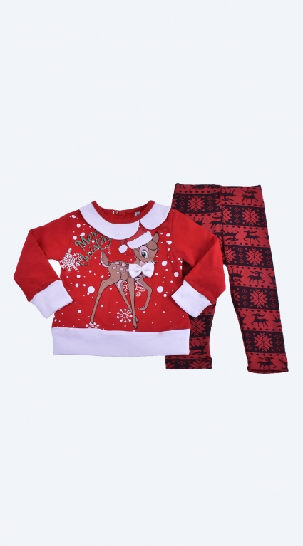Christmas set long sleeve girl
