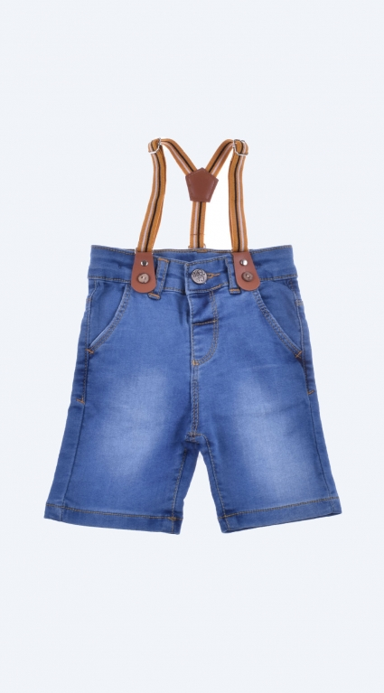 Boy shorts with suspenders