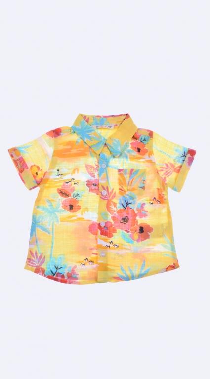 Риза къс ръкав момче - Palms
