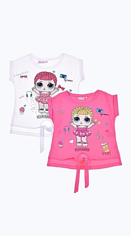 Тениска за момиче Girls 2 броя LOL