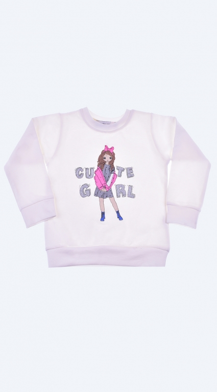 Blouse girl long sleeves with light cotton