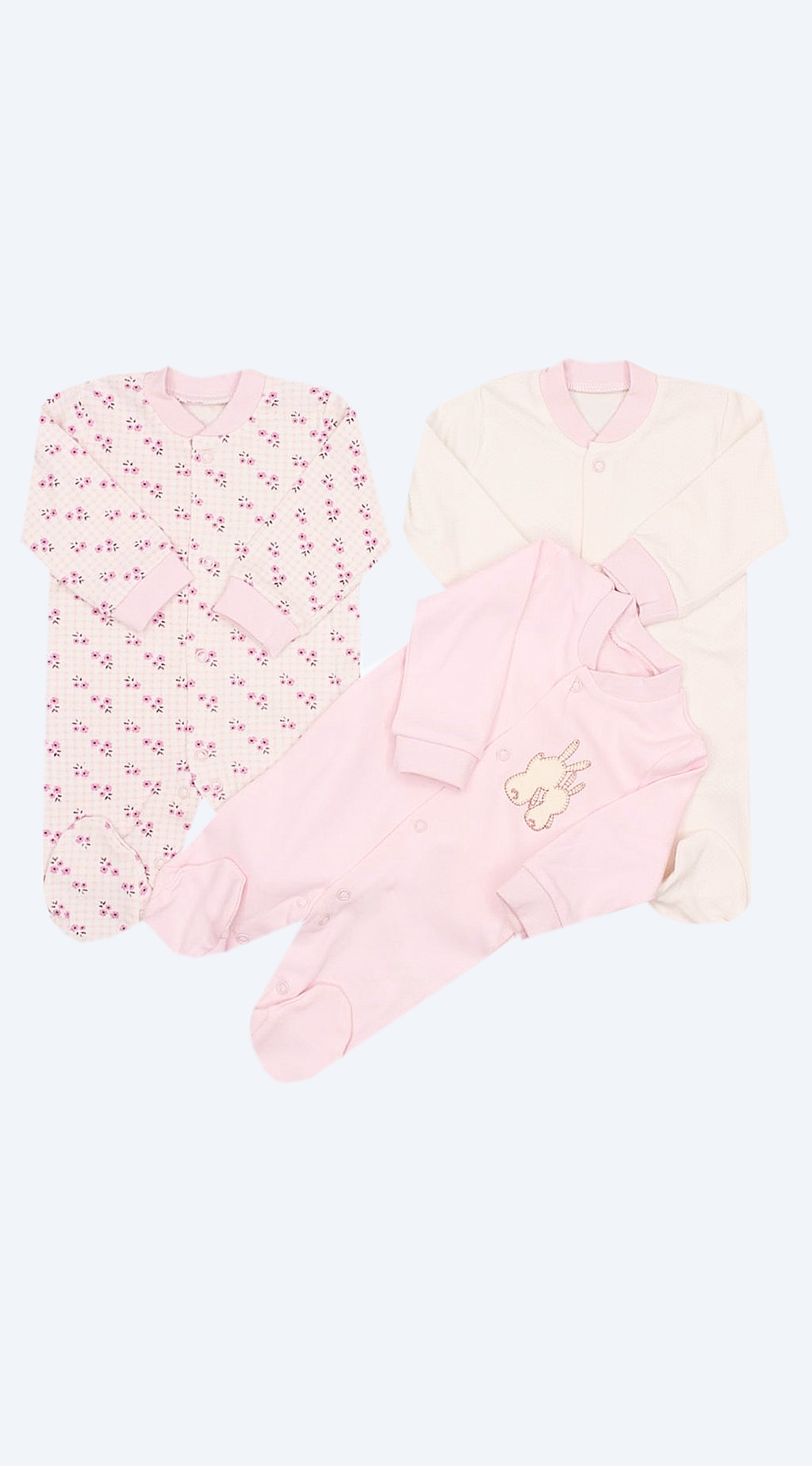 Overalls long sleeve for a girl 3 pieces baby girl