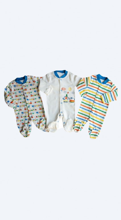 Overalls long sleeve for a boy 3 pieces baby boy