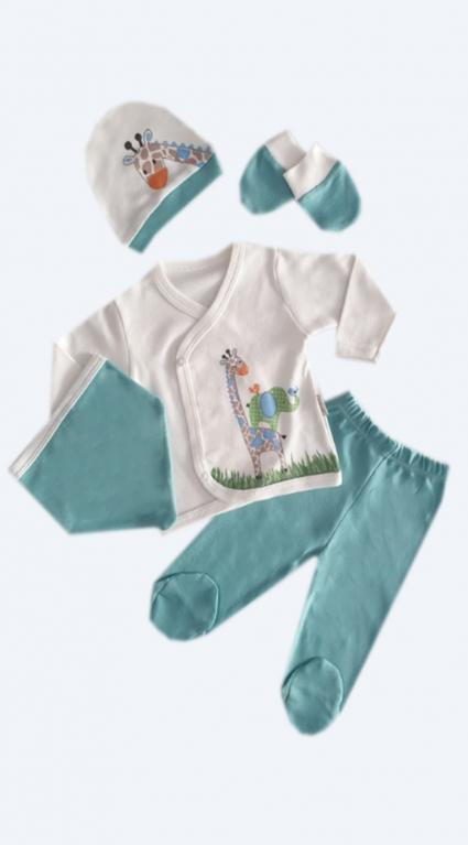 Set long sleeve girl 5 pieces baby girl