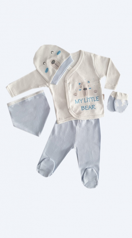 Set long sleeve boy 5 pieces baby boy