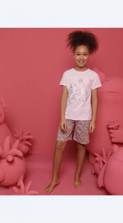Short sleeve girl pajamas