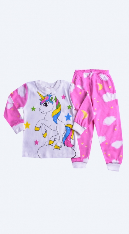 Long-sleeved girl pajamas