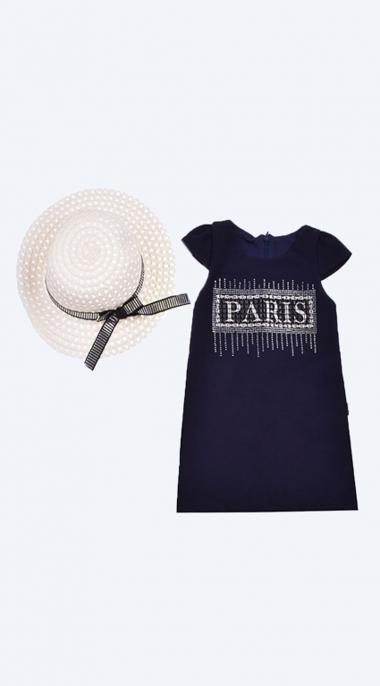 Dress short sleeve with chapel