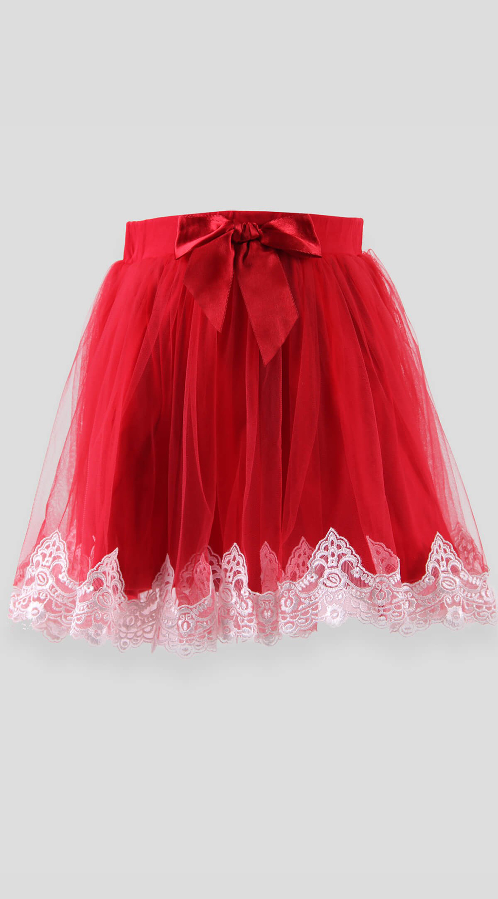 Skirt with tulle