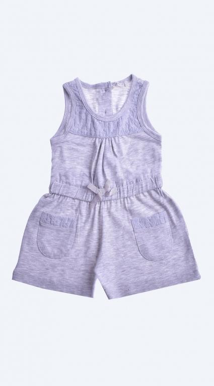 Overalls short sleeve girl