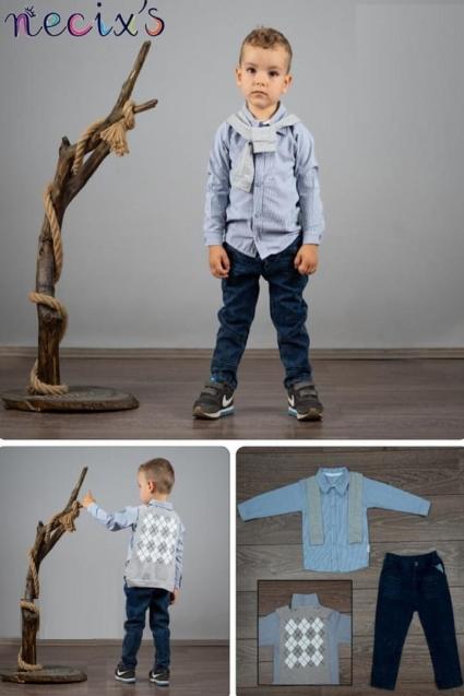 Комплект момче дълъг ръкав