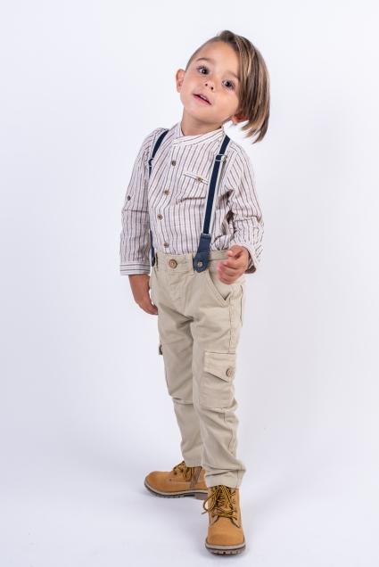 Pants boy with suspenders