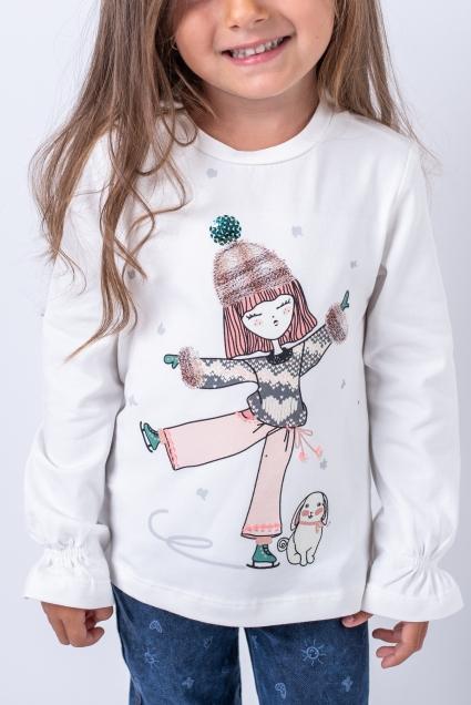 Blouse girl long sleeves