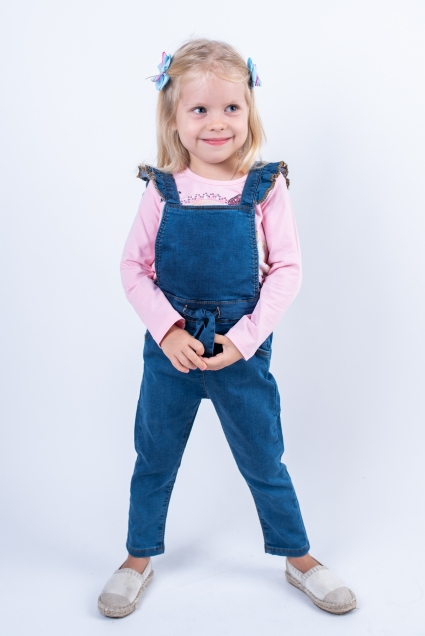 Denim overalls girl