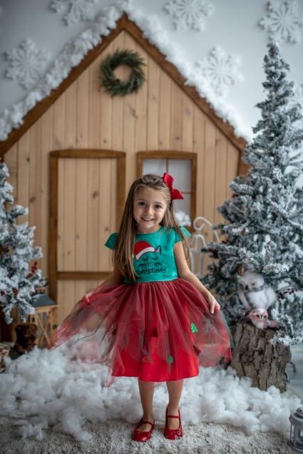 Dress with a christmas mask