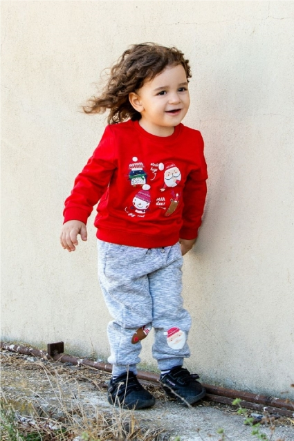 Комплект момиче дълъг ръкав Коледа