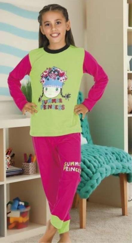 Пижама момиче дълъг ръкав