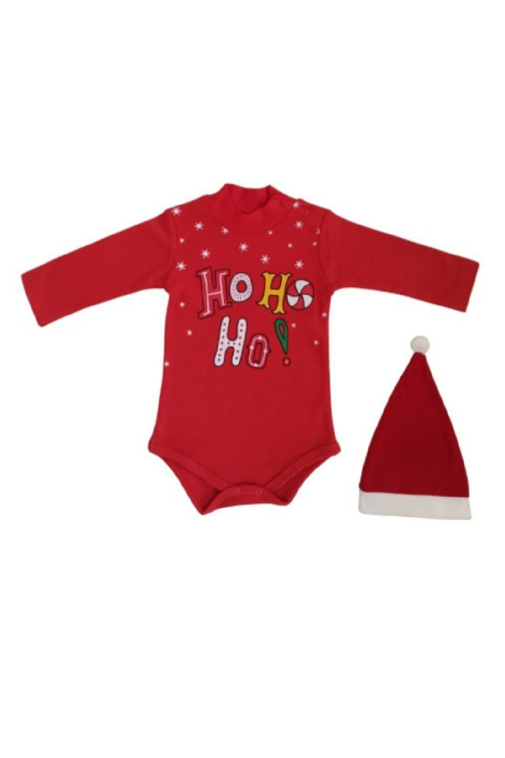 Christmas long sleeve body with hat