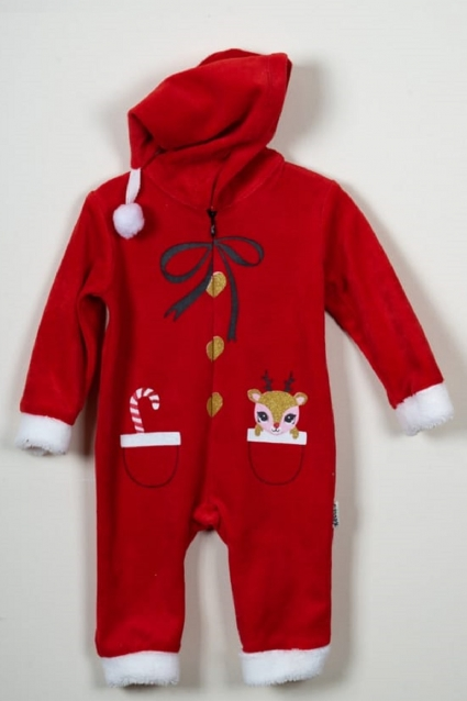 Christmas long sleeve jumpsuit