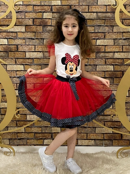 Minnie mouse short sleeve girl set