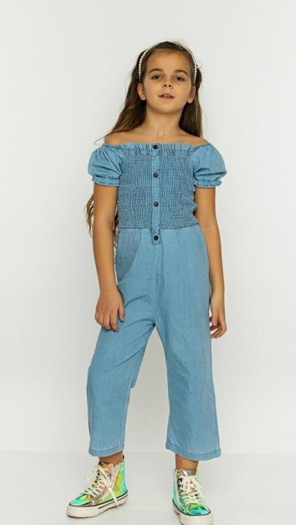 Overalls girl short sleeves
