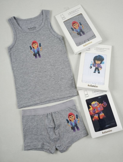 Set of tank top with boxer boy 3 pieces