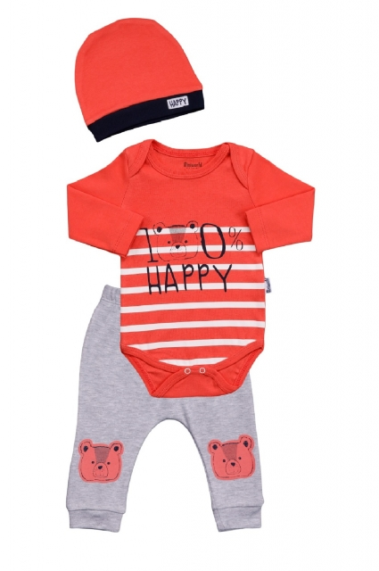 Set long sleeve boy with hat