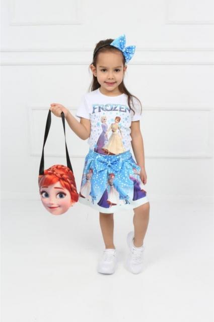 Комплект момиче къс ръкав Frozen - 4 части