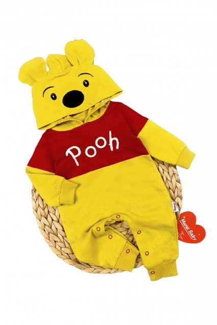 Long sleeve overalls winnie the pooh