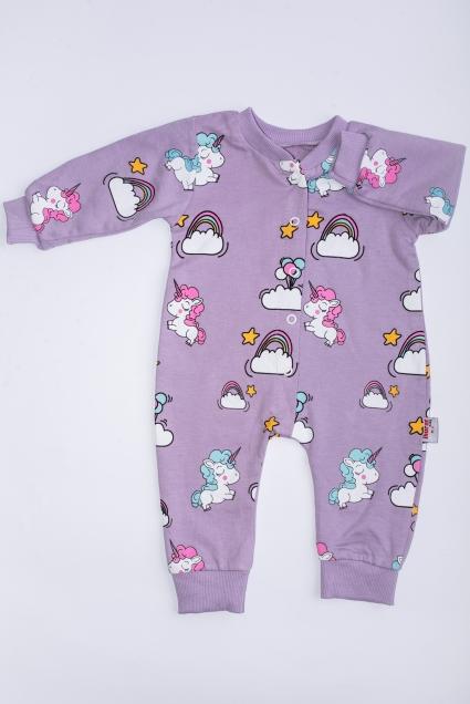 Overalls girl unicorn