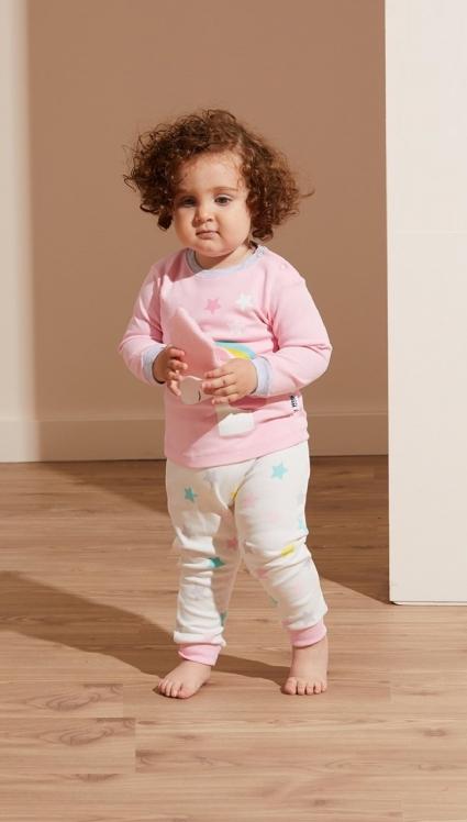 Pajamas girl long sleeve 3 parts
