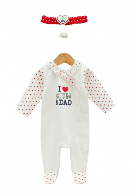 Overalls girl long sleeves with a ribbon